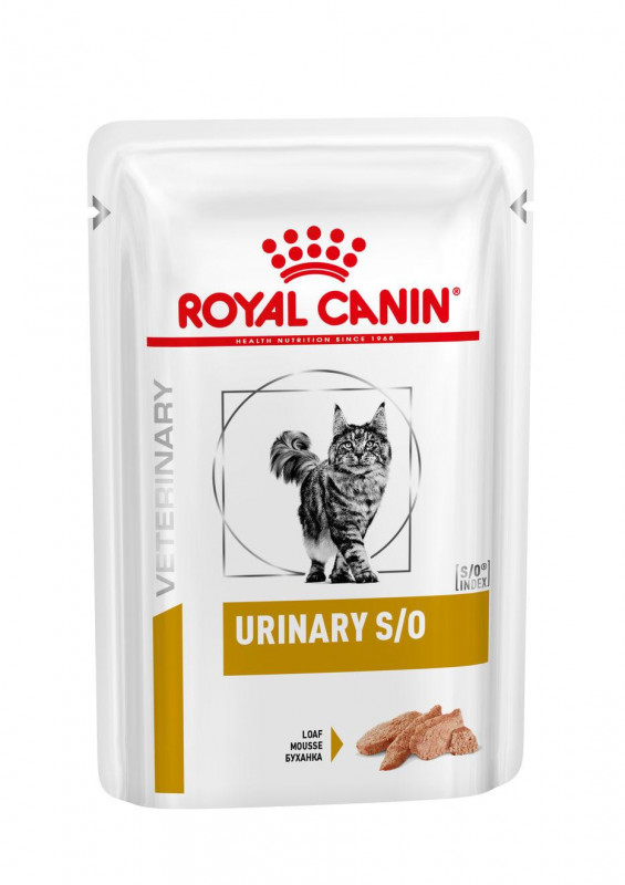 Royal Canin Veterinary Health Nutrition Cat Urinary S/O Pouch in Loaf 12x 0.085 Kg