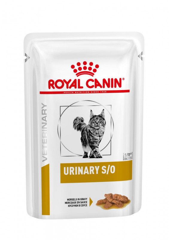 Royal Canin Veterinary Health Nutrition Cat Urinary S/O Pouch in Gravy 12x 0.085 Kg